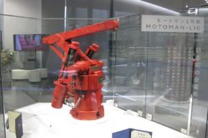 日本で初めての全電気式産業用ロボット「モートマン1号機」。